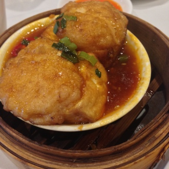 Prawn Tofu in a Sweet and Sour sauce