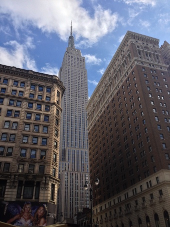 Street view of the Empire State Building